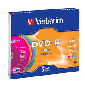DVD-R Colour Verbatim 5 szt Slim Case